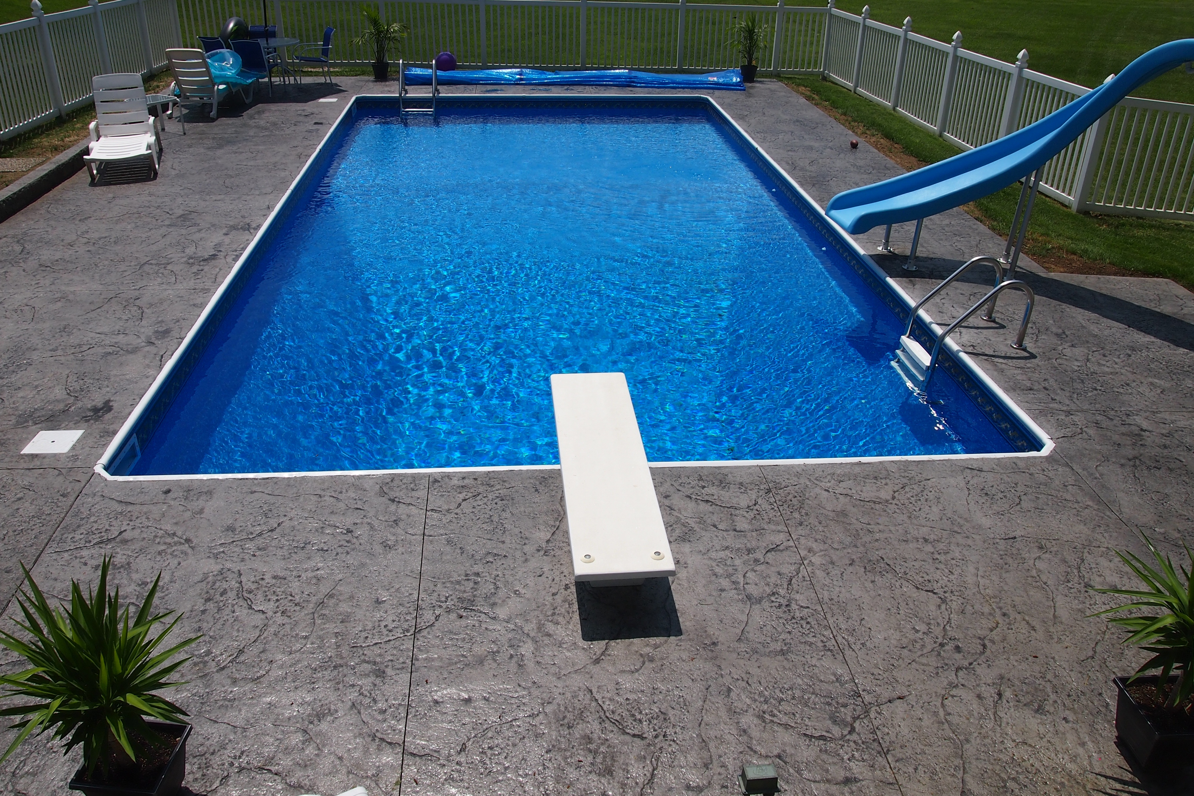 Stamped Concrete Around Pool Images