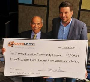 West Houston Community Center Entelrrgy donation