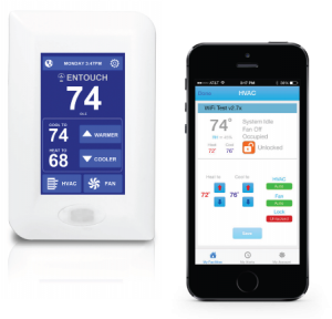 entouch wifi thermostat monitor power consumption