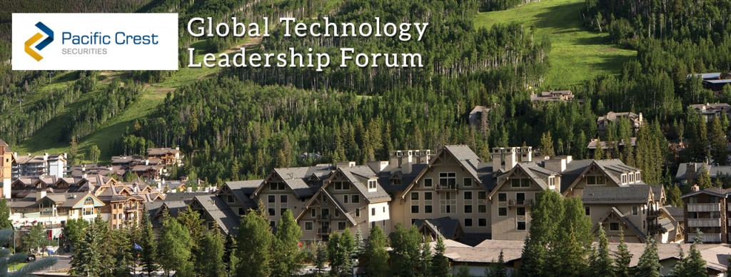 Pacific Crest Global Technology Leadership Forum energy management technologies