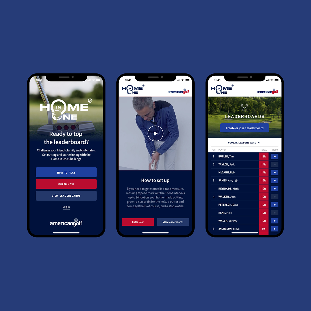 We've teamed up with American Golf to launch Home in One