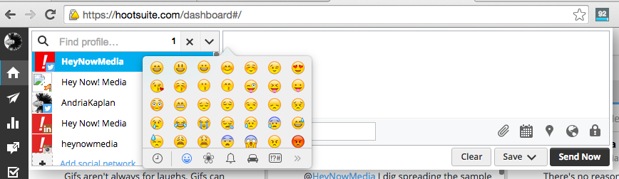 How to use emojis in Hootsuite Mac