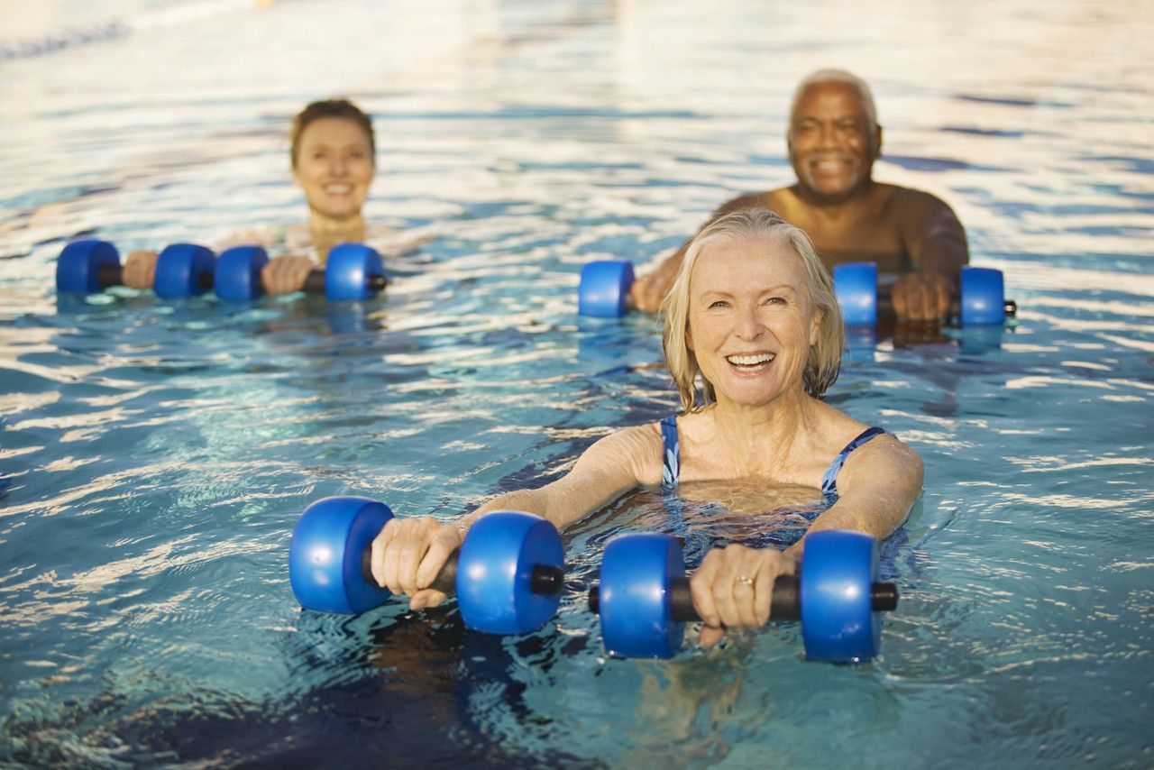 water aerobics Water exercise for seniors  experts in fitness for older adults aren't surprised about the benefits of water exercise it's clear that aqua aerobics or water.