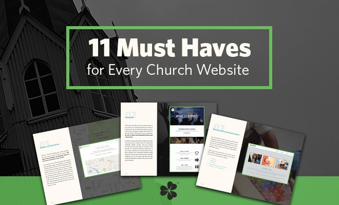 [free checklist eBook] 11 Must Haves for Church Websites