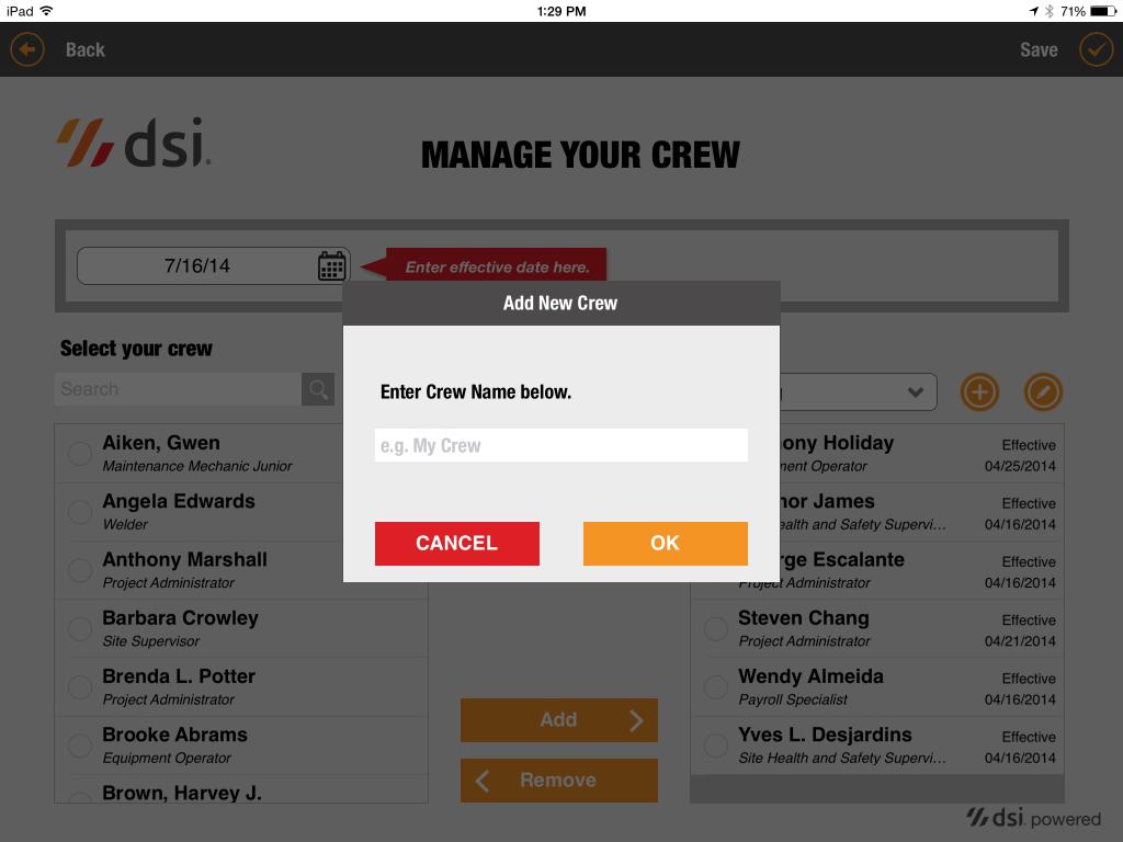 tablet add crew