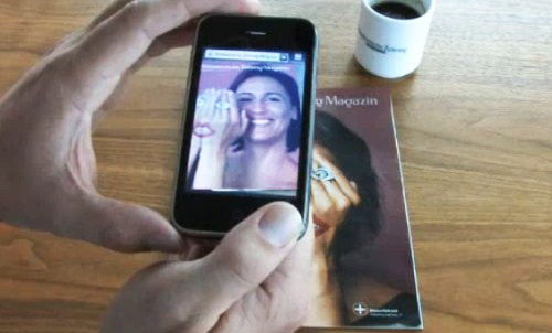 Magazine ad comes alive with augmented reality