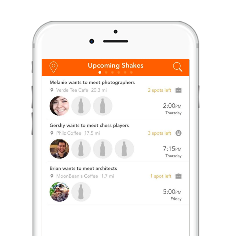 Bottleshake mobile app