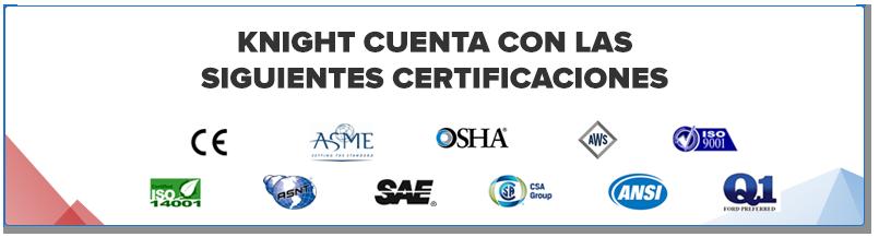 Manipuladores Industriales certificados