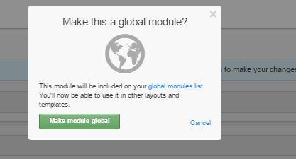 global modules on HubSpot COS for blogs, websites, landing pages and emails.