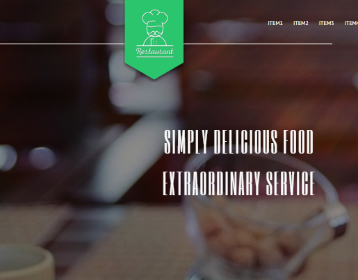 restaurant landing page template on HubSpot COS 2