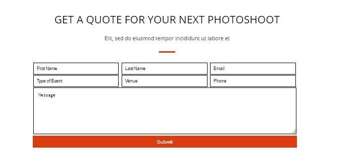 forms in landing page