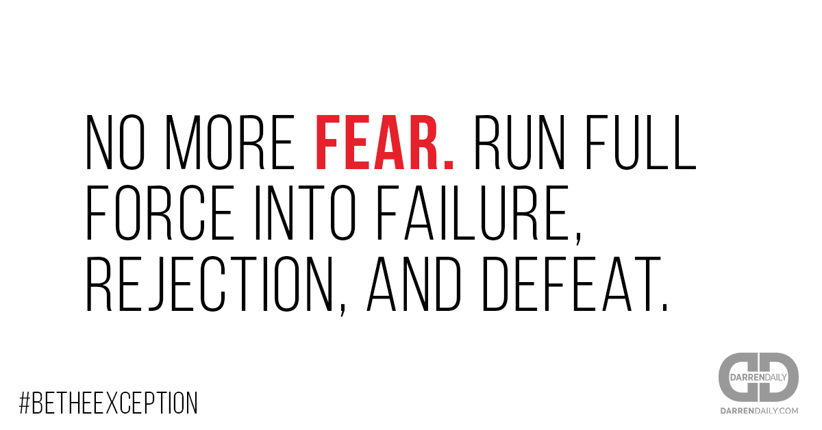 20 Seconds of Courage Quote vs Fear