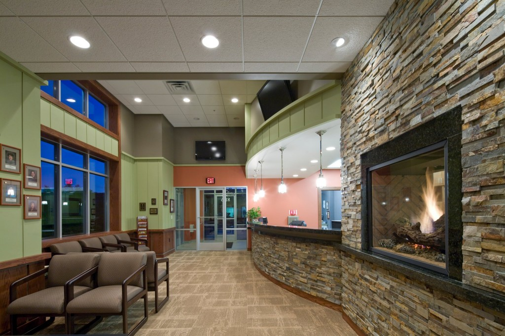 Fireplace Design all seasons fireplace : Fireplaces in Commercial Spaces: Meatloaf and Dentistry
