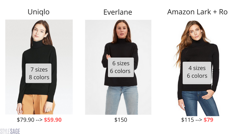 Amazon, Uniqlo, Everlane
