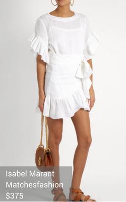 ruffled wrap dress from Isabel Marant