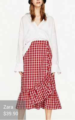 gingham clothing from Zara