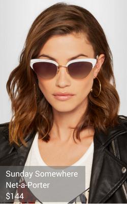 white sunglasses from Sunday Somewhere