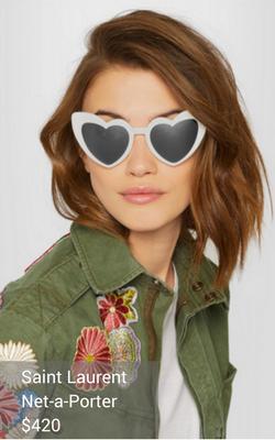 white sunglasses from Saint Laurent
