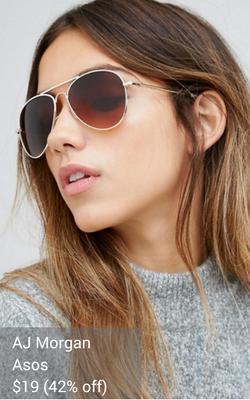 white sunglasses from AJ Morgan