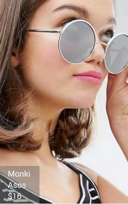 white sunglasses from Monki