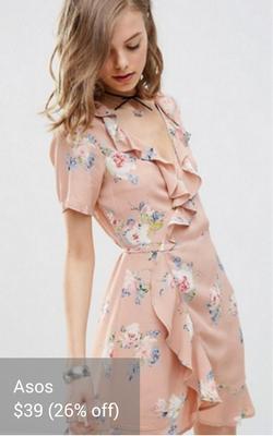ruffled wrap dress from Asos