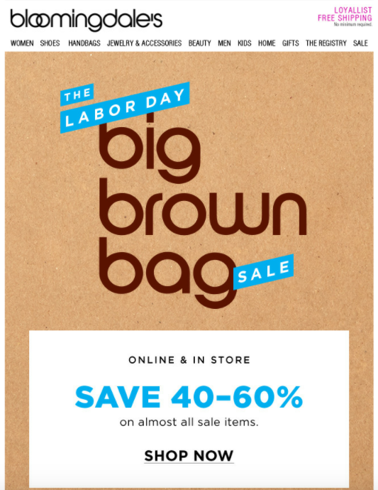 bloomingdales labor day