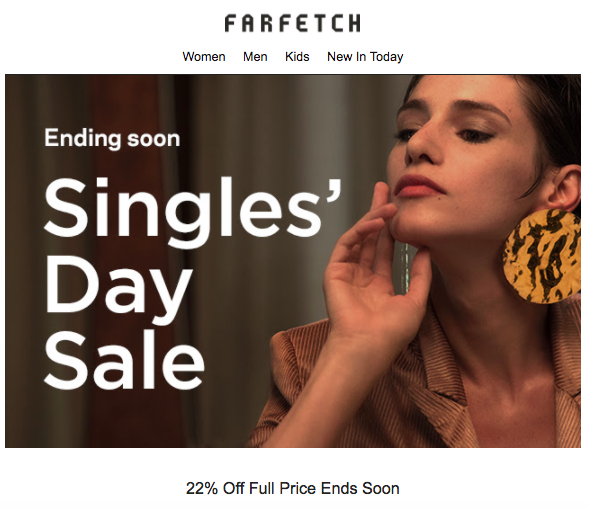 farfetch singles day
