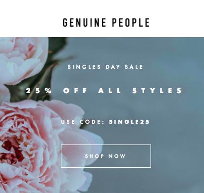 genuine people singles day