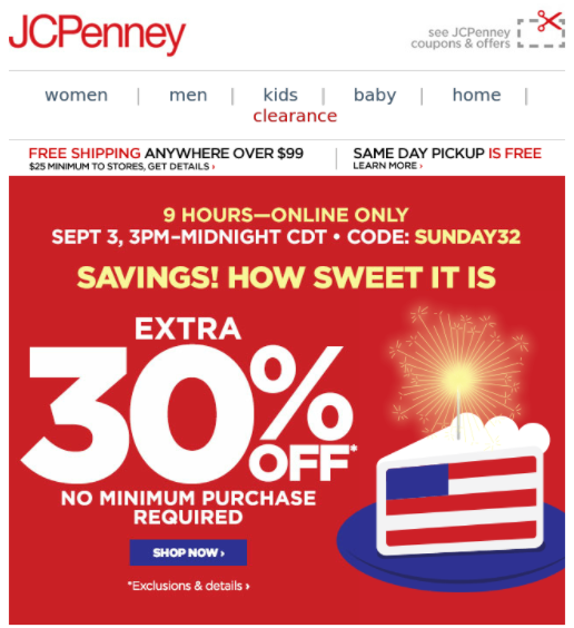 jcpenney labor day