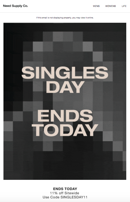 need supply singles day