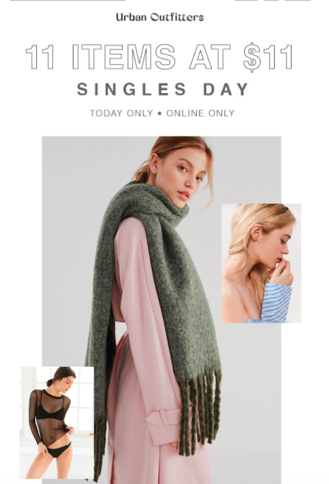 urban outfitters singles day
