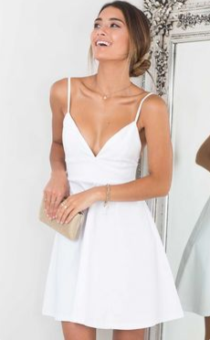 example of a white graduation dress