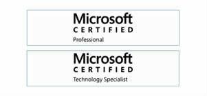 Nuestro equipo cuenta con profesionales certificados Microsoft