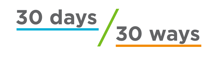 30 ways 30 days logo