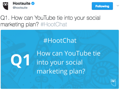 An example of a Twitter chat.