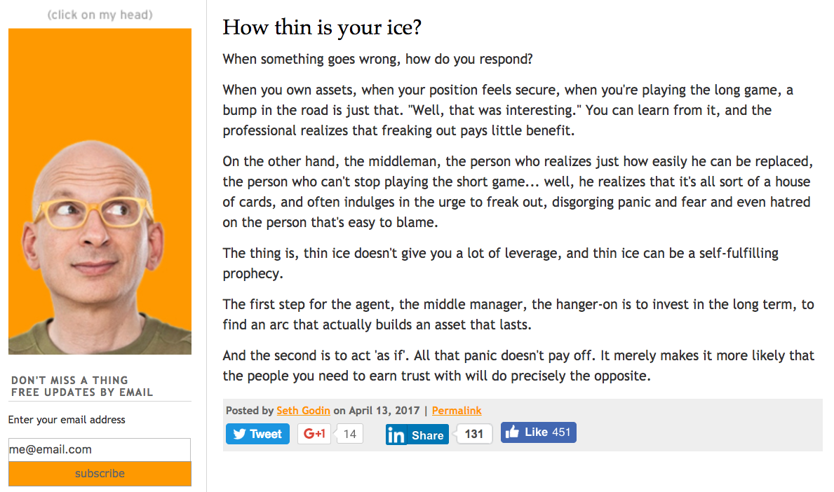 An extract from Seth Godin's blog.