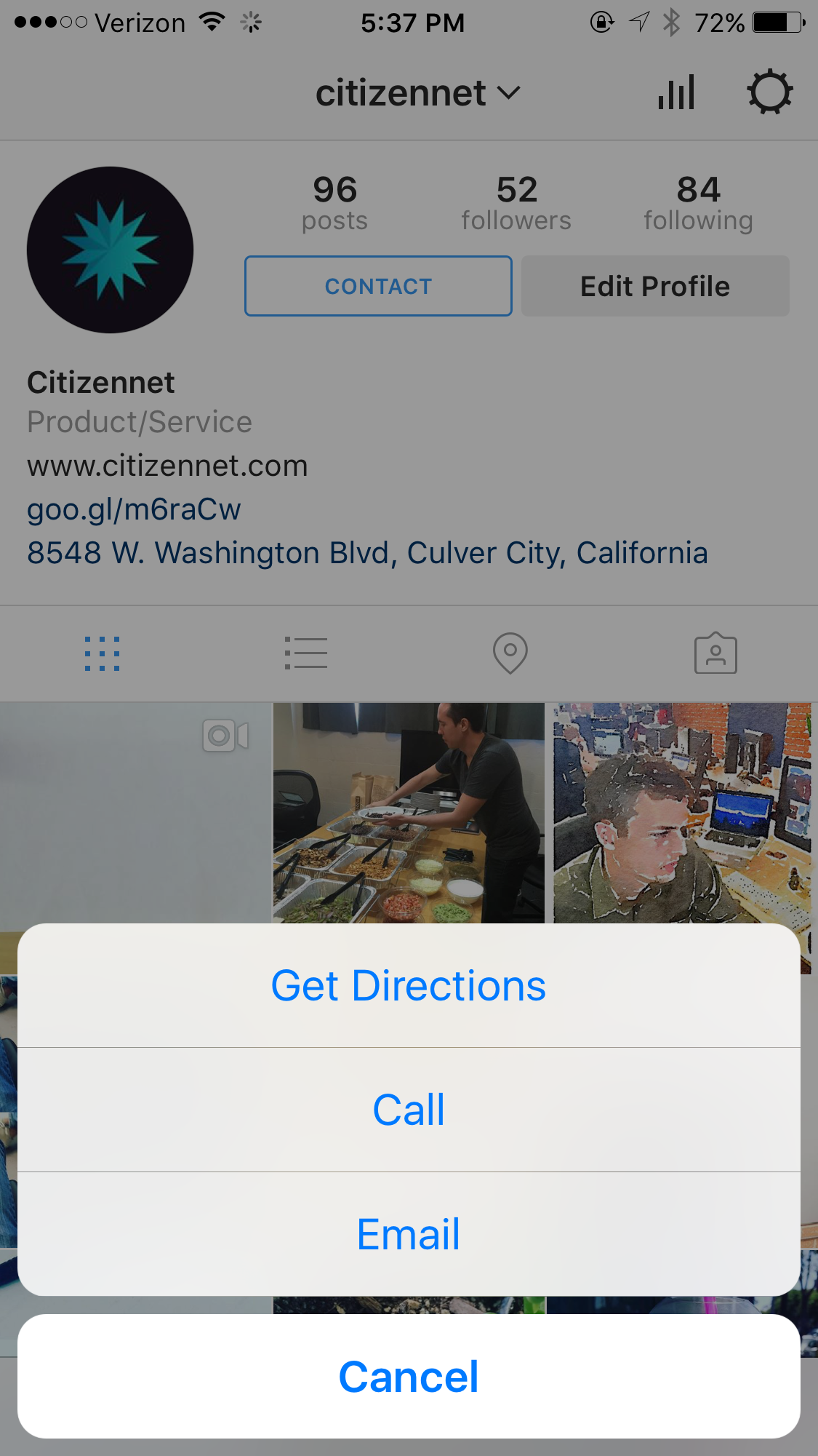 How to add the instagram contact button for businesses img9528 ccuart Gallery
