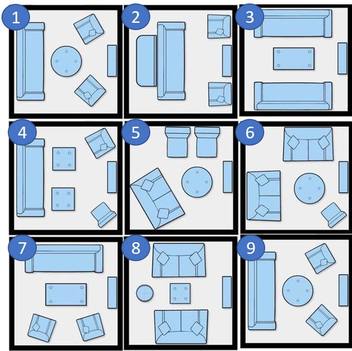 furniture layouts