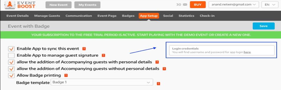 02-App Setup Retrieve Credentials
