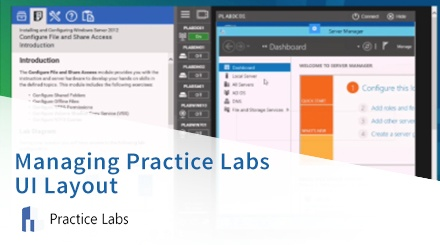 Managing Practice Labs UI Layout