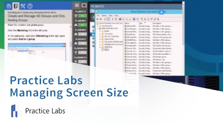 Practice Labs Managing Screen Size