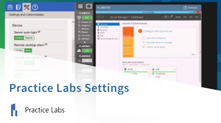 Practice Labs Settings