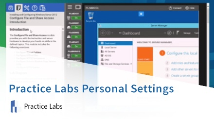 Practice Labs Personal Settings