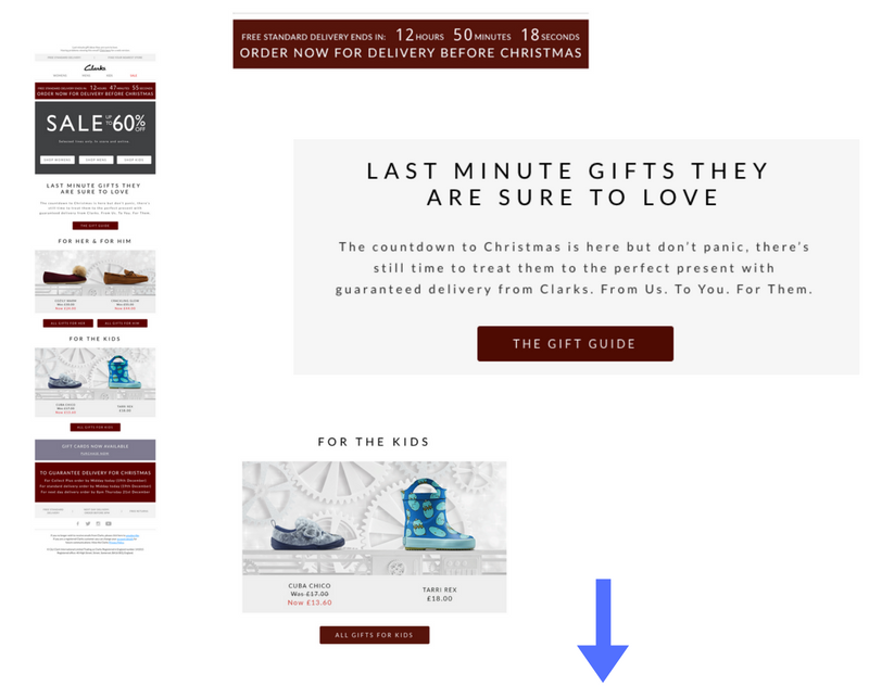 Clarks gift guide promotion ecommerce.png