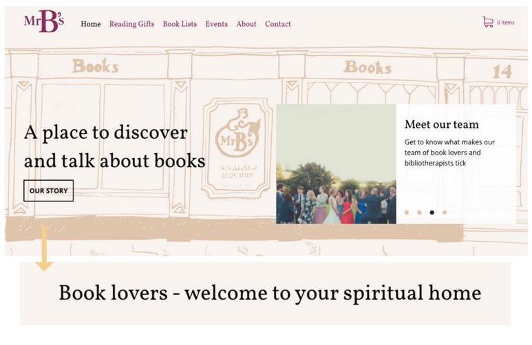 ecommerce bookshops Mr B's Emporium homepage