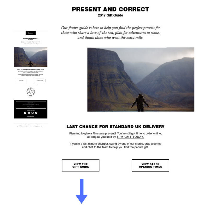 Finisterre gift guide promotion ecommerce.png