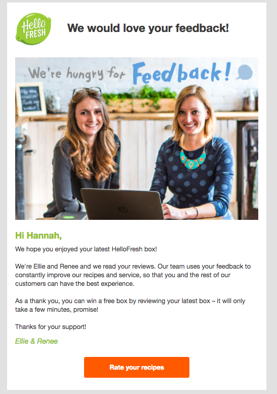 Hello Fresh Feedback email .png
