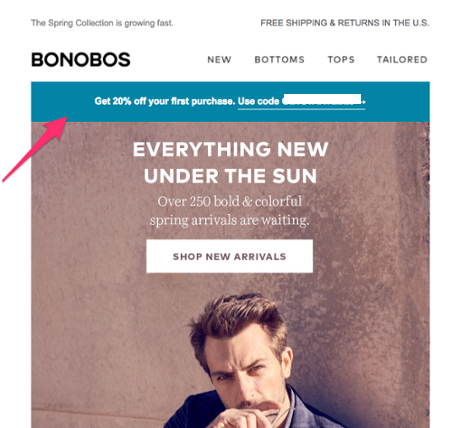 ecommerce email marketing dynamic content example