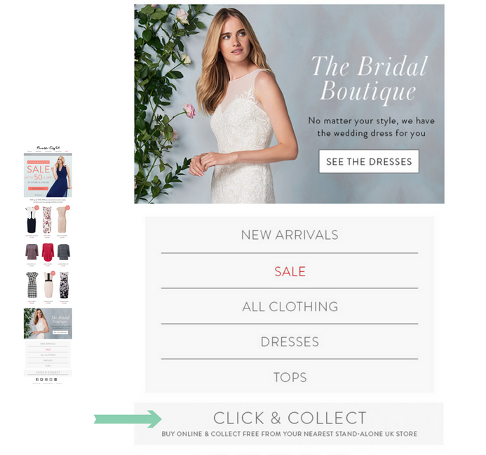 Phase Eight ecommerce email marketing click and collect service