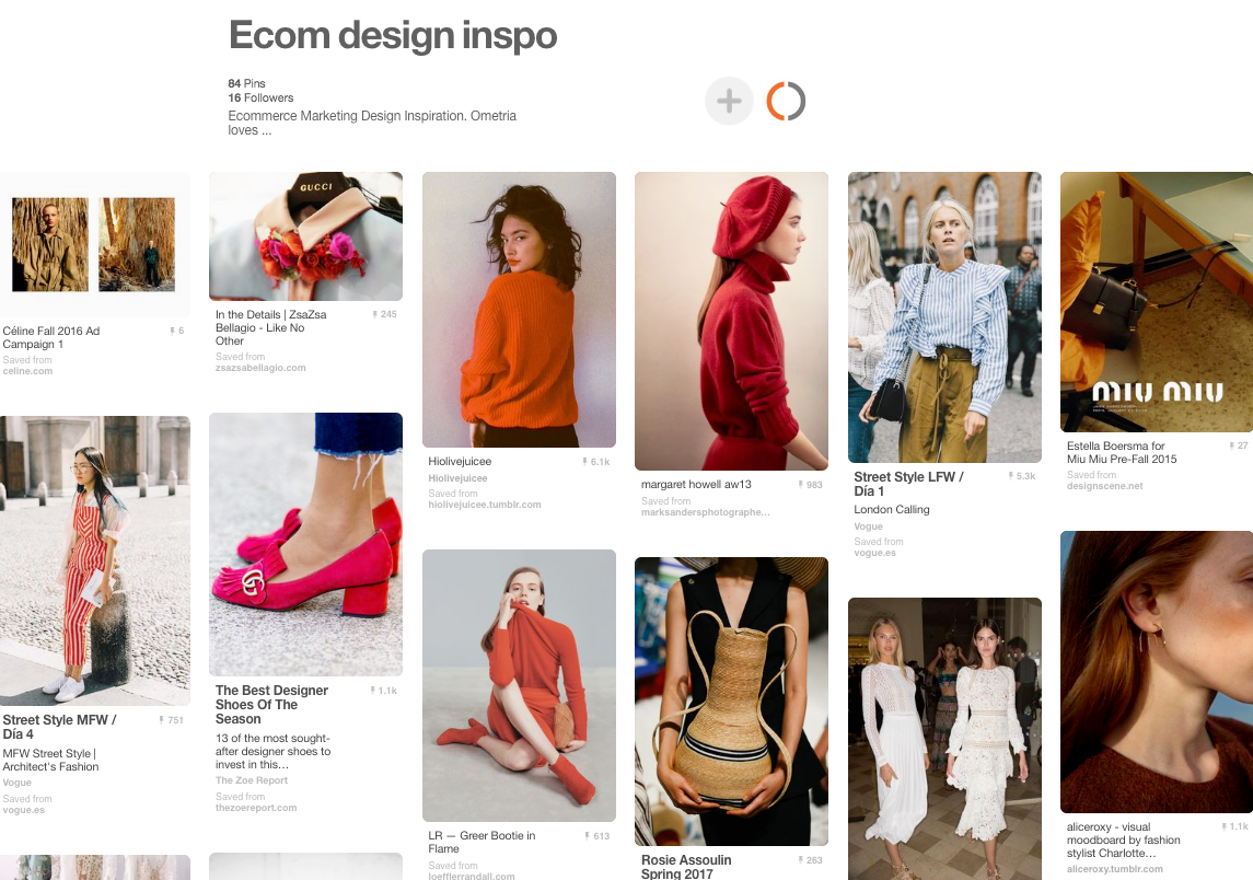 Pinterest for ecommerce inspiration
